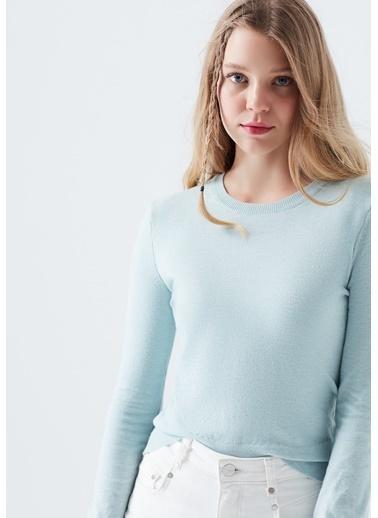 Mavi Kadın  Düğmeli Kazak 171353-32155 Mavi